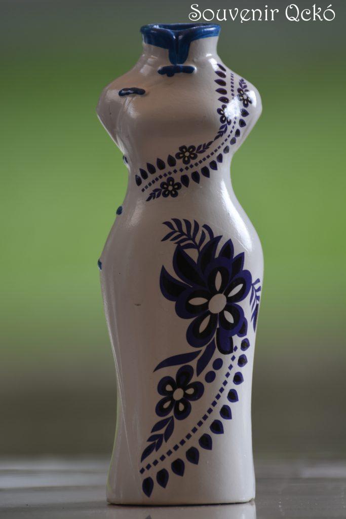 Váza kék mintával